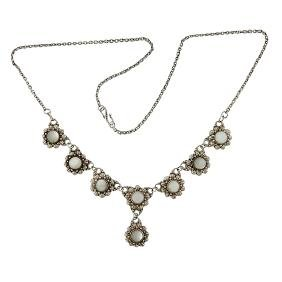 Arts & Crafts, Blossoms necklace, sterling silver,