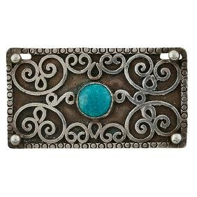 Arts & Crafts, brooch, sterling silver, turquoise,