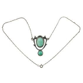 American Arts & Crafts, pendant necklace, sterling