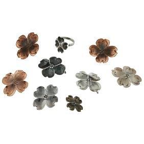 Stuart Nye, Dogwood jewelry group: six (6) pendant