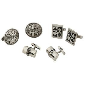 John Hardy, Bamboo cufflinks, sterling silver, together