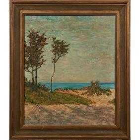 Paul Conner, (American, 1881-1968), Landscape, oil on