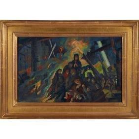 John Benninger, (American, 1906-1998), The Horror of
