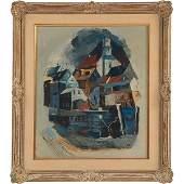 Jane Gage, (American, b. 1914), Untitled, oil on board,