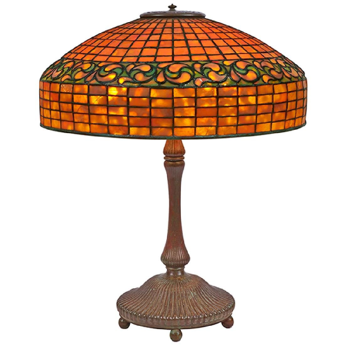 Tiffany Studios Lemon Leaf table lamp: shade, #1476 and