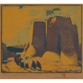 Gustave Baumann, (American/German, 1881-1971), Church
