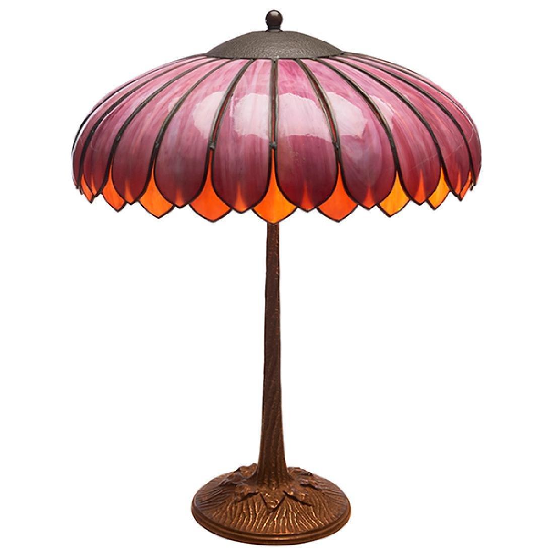 """John Morgan & Sons table lamp 18.5""""dia x 23.5""""h"""
