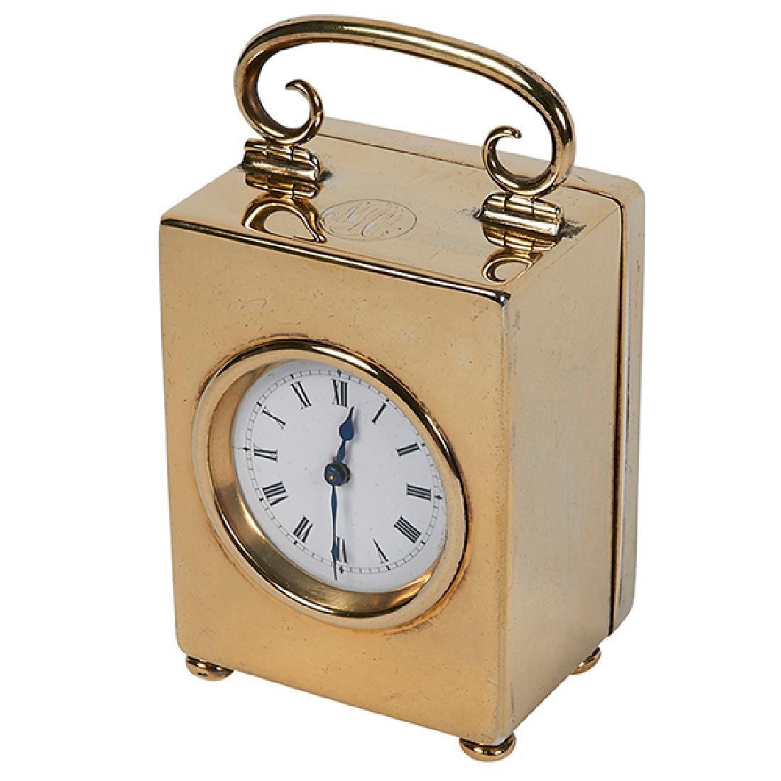 """Charles & George Asprey desk clock 2 1/8""""w x 1 5/8""""d x"""