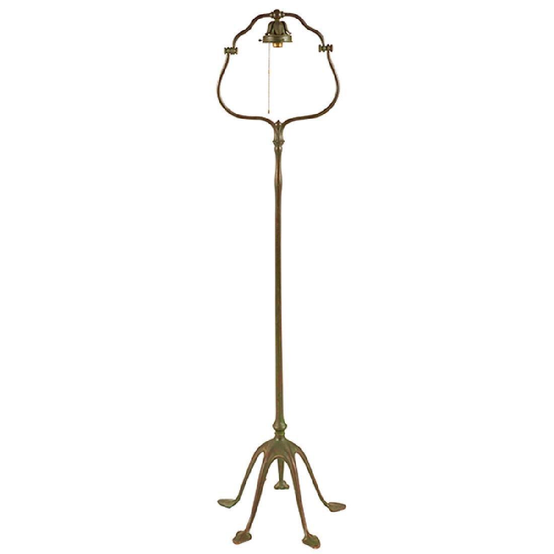 "Tiffany Studios floor lamp base, #423H 16""w x 16""d x"