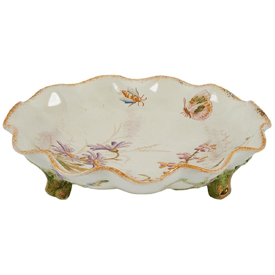 Emile Galle (1846-1904) Insect and Foliate dish, #373