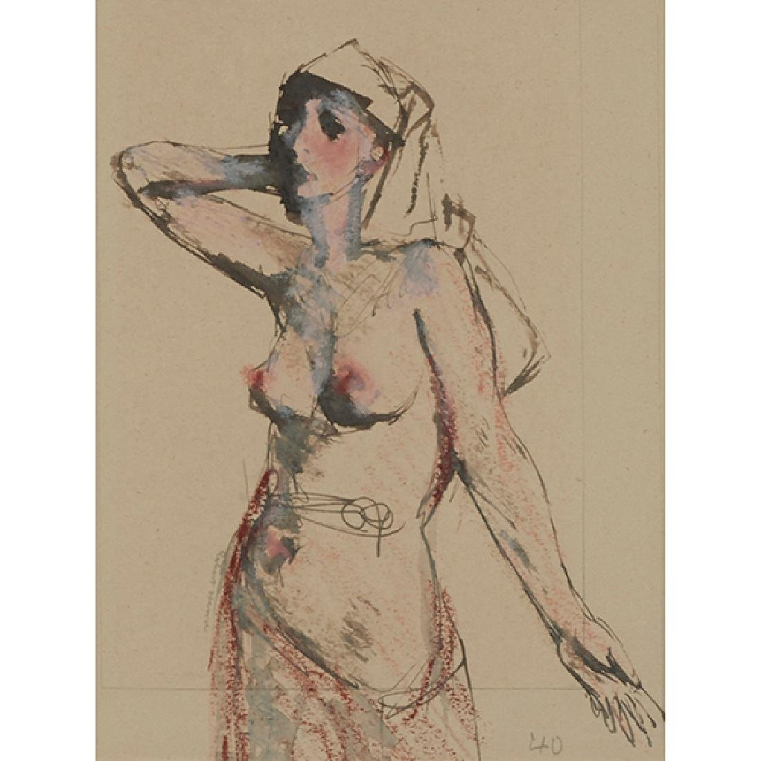 Robert Henri, (American, 1865-1929), Nude with Covered