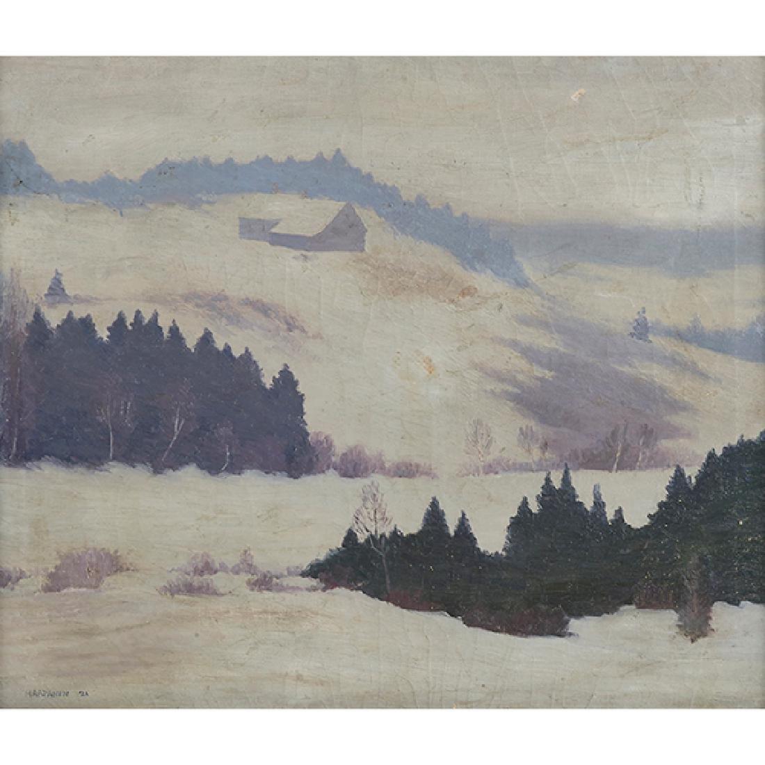 John Haapanen, (American, 1891-1968), Maine Snowy
