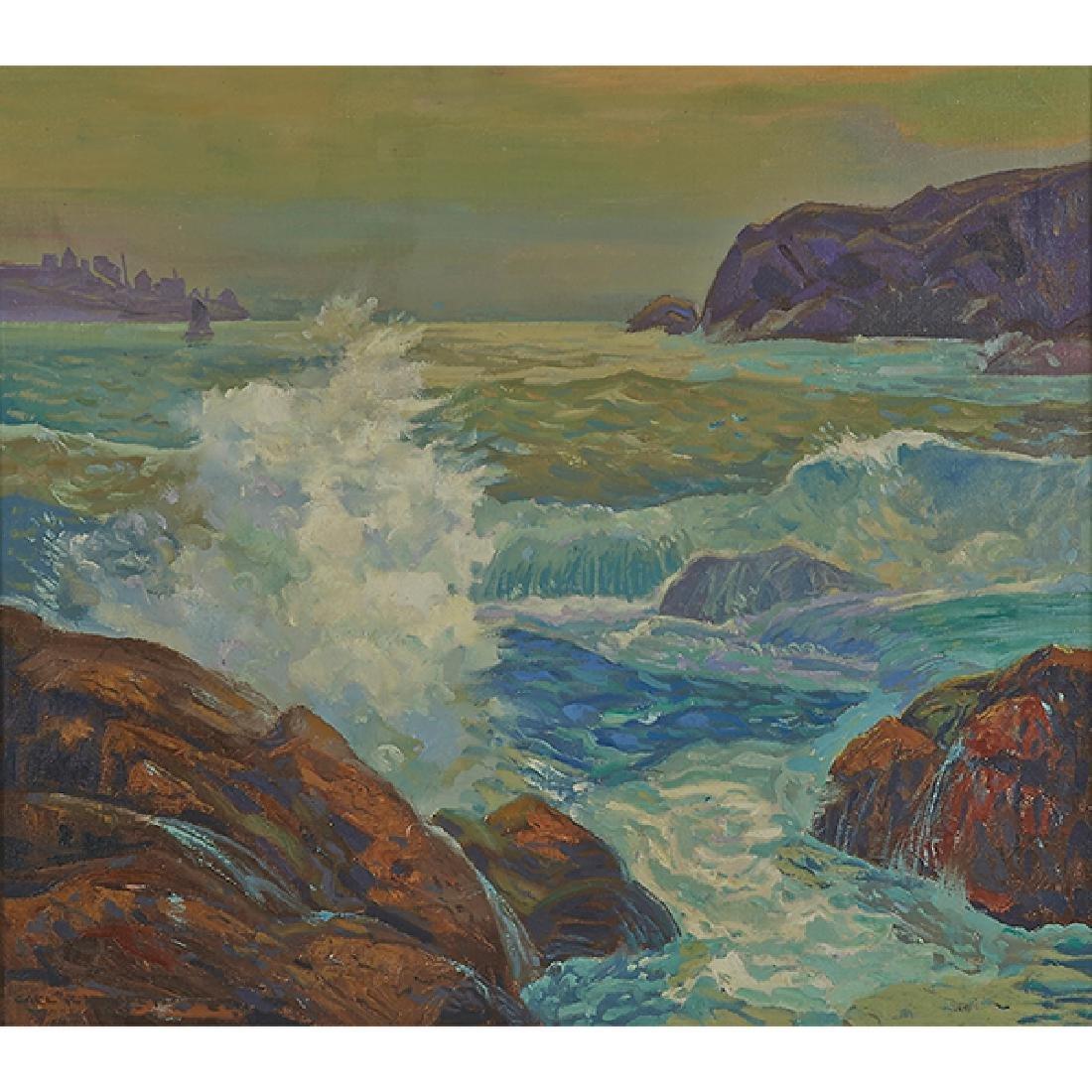 Carl Krafft, (American, 1884-1938), Seascape, oil on