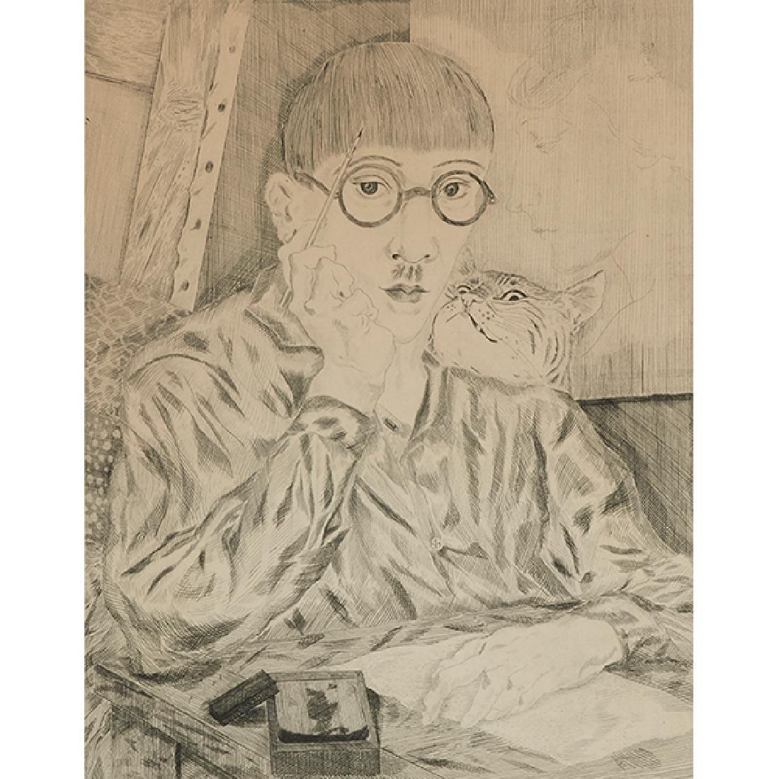 Leonard Foujita, (French/Japanese, 1886-1968), Self