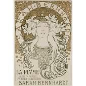 Alphonse Mucha, (Czech, 1860-1939), Sarah Bernhardt /