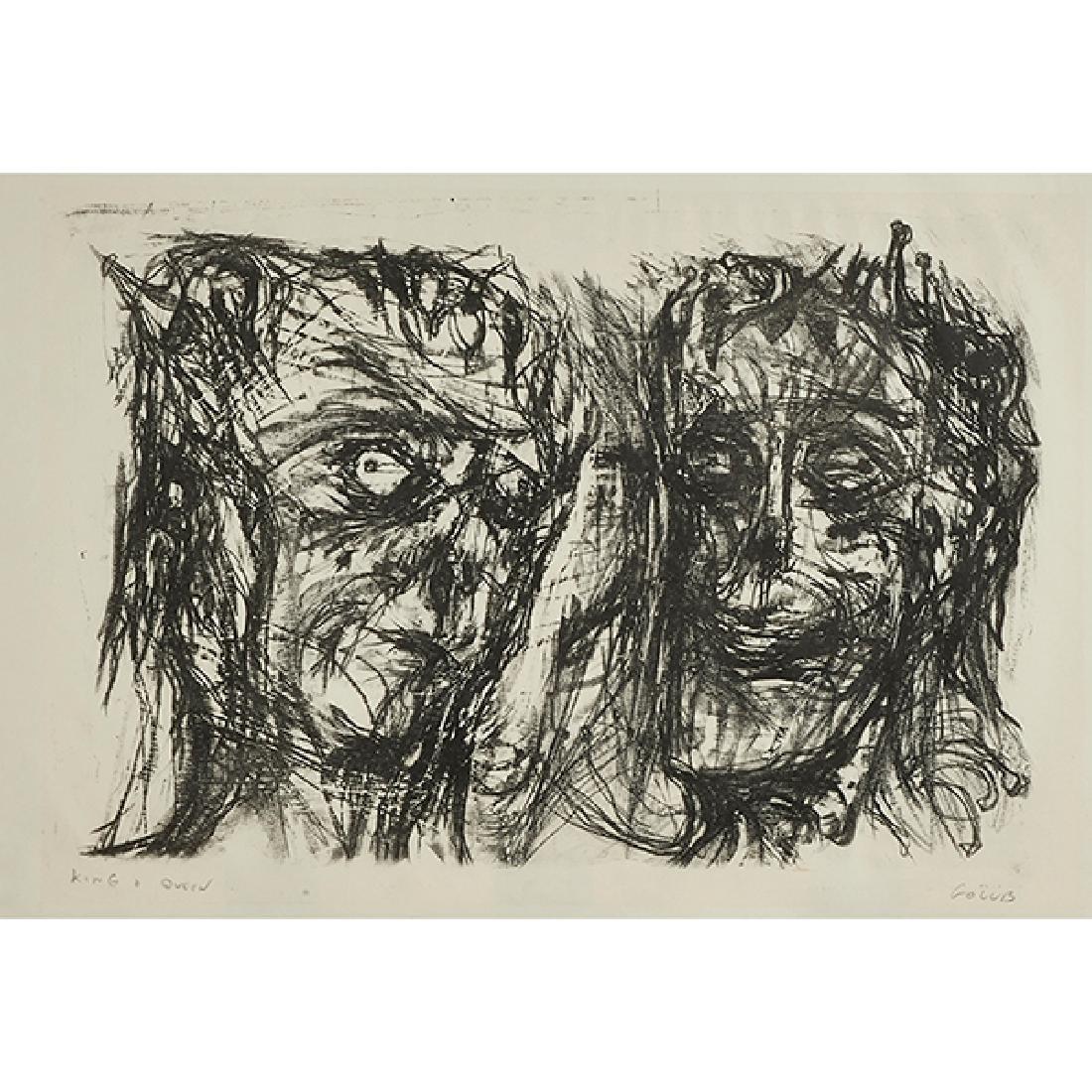 Leon Golub, (American, 1922-2004), King and Queen,