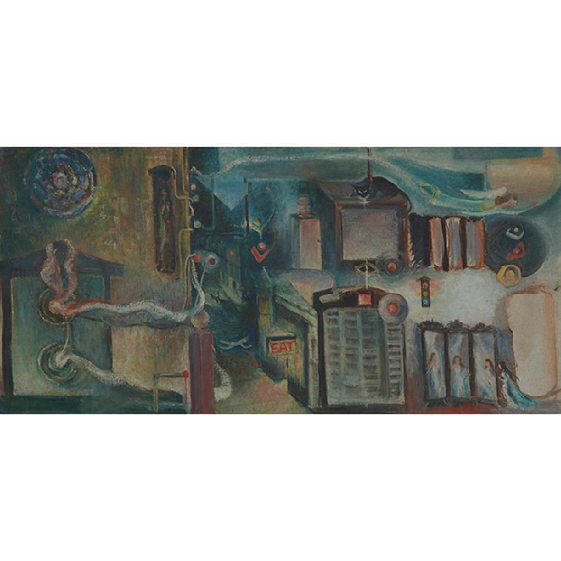 Artist Unknown , (20th century), Surreal City Scene,