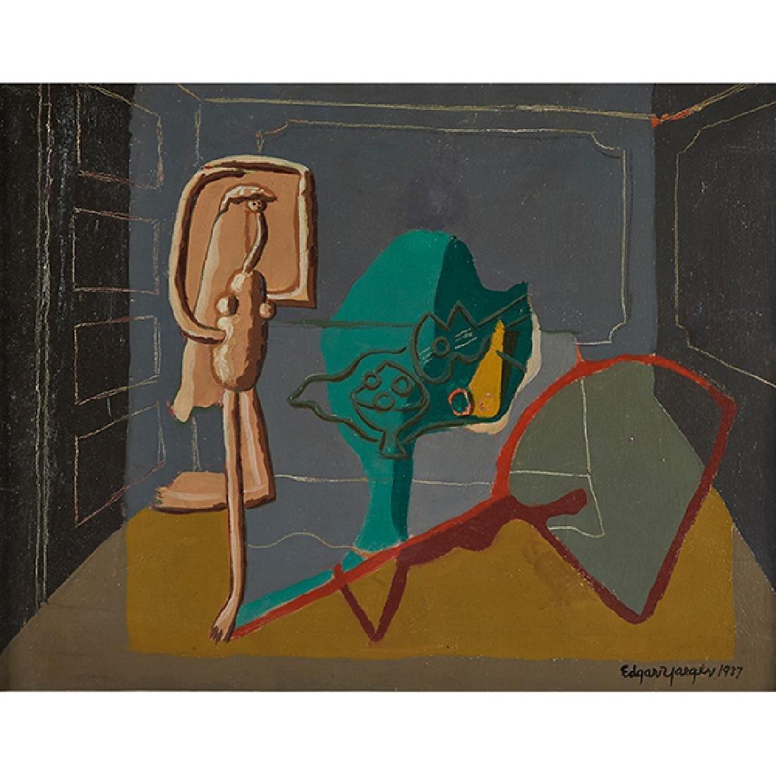 Edgar Yaeger, (American, 1904-1997), Abstraction Figure