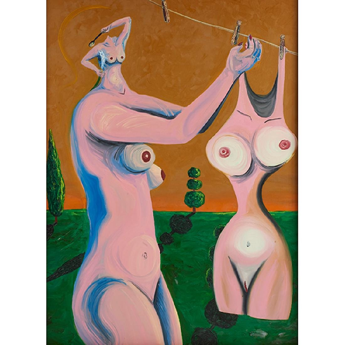 Neraldo De la Paz, All Washed Up, 1984, oil on canvas,
