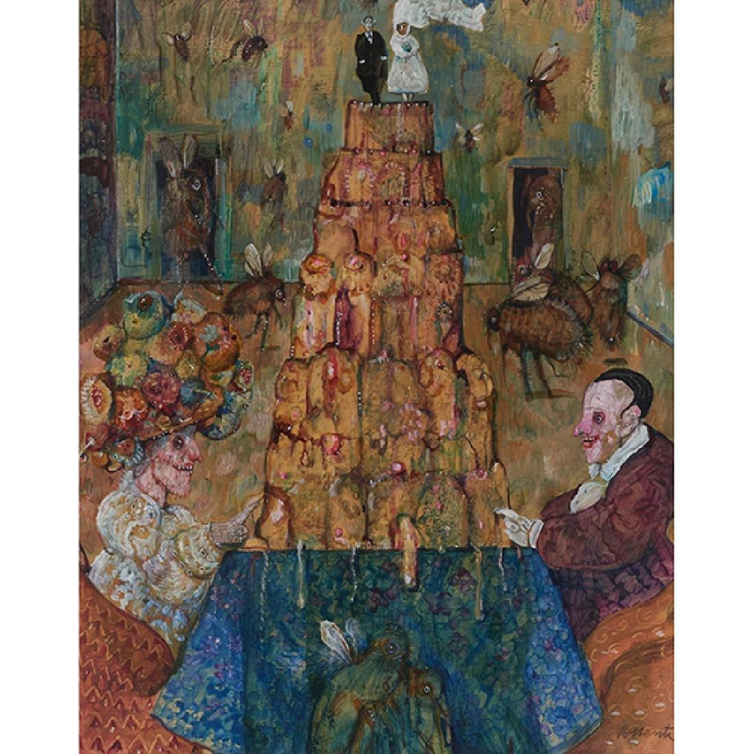 Antonio Possenti, (Italian, b. 1933), Anniversary Cake,