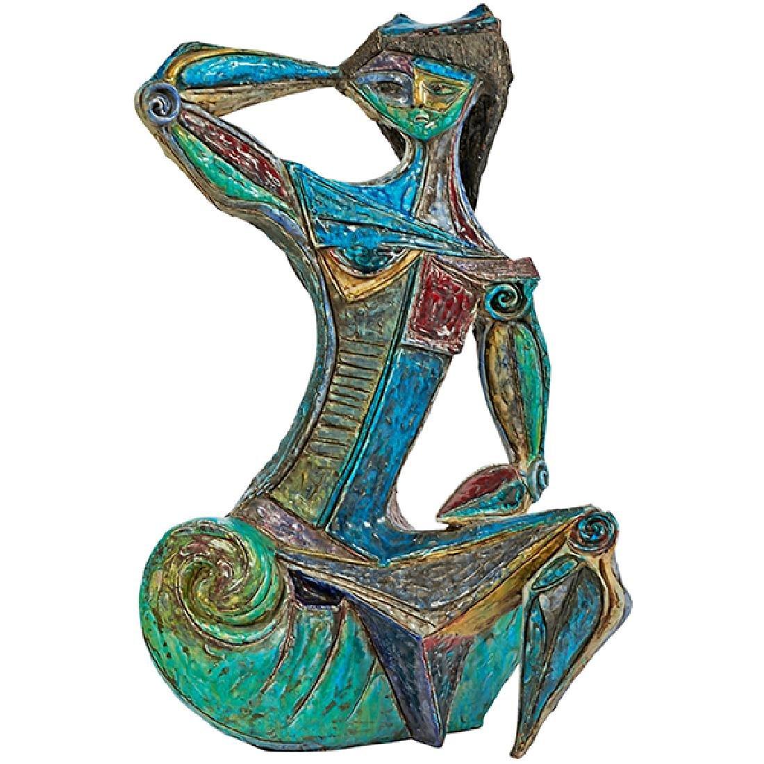 """Marcello Fantoni (1915-2011) monumental sculpture 18""""w"""
