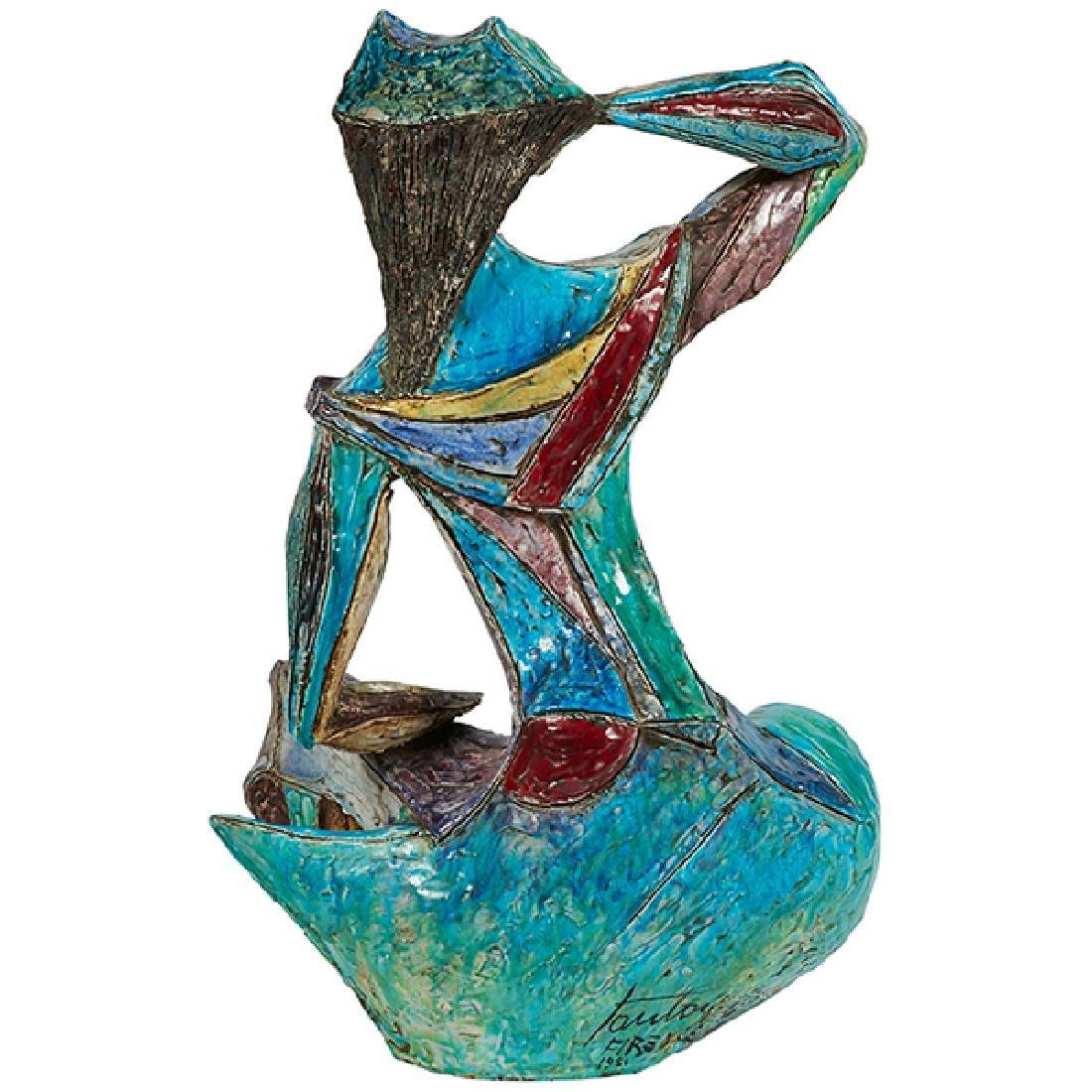 """Marcello Fantoni (1915-2011) monumental sculpture 18""""w - 2"""