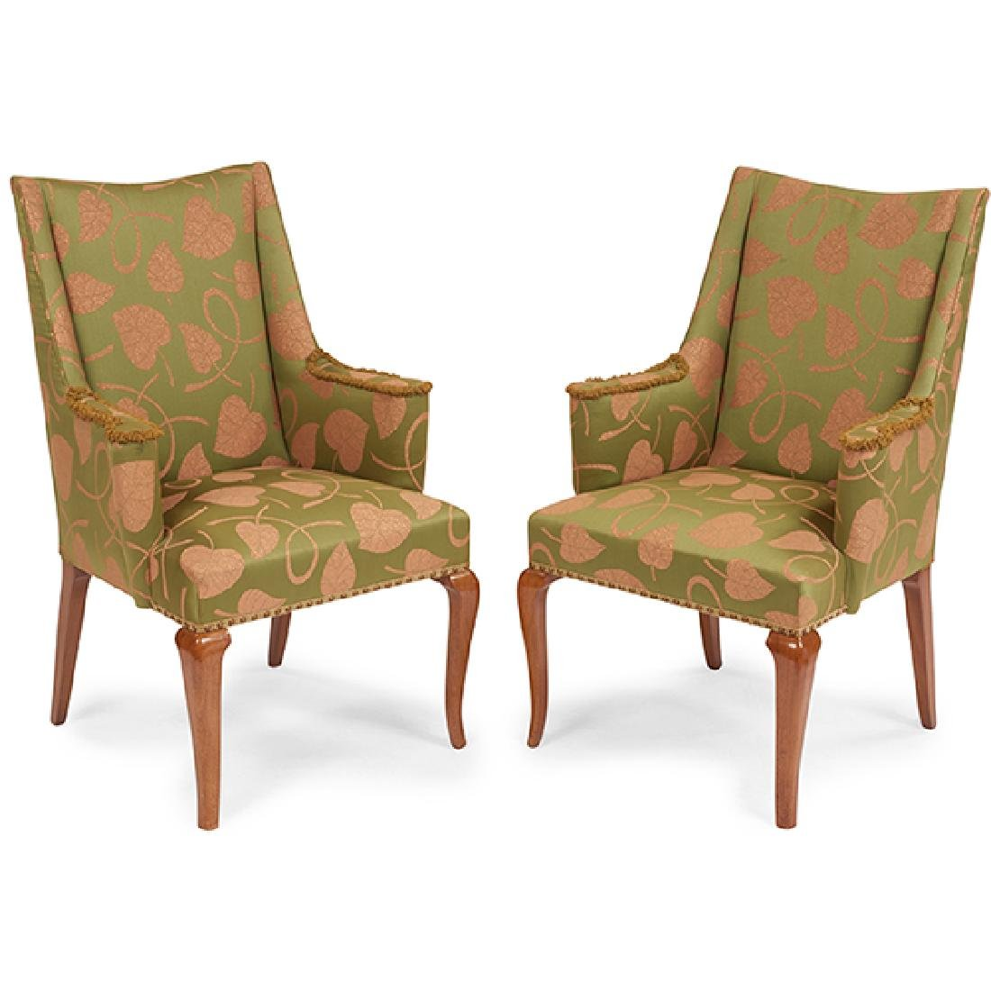 Edward Wormley (1907-1995) for Dunbar chairs, pair,