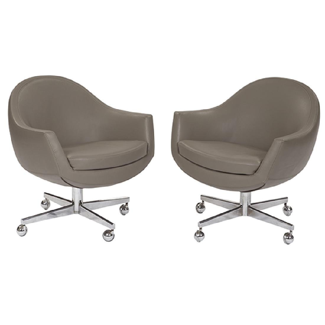 """1960s lounge chairs, pair 29.5""""w x 24""""d x 31""""h"""