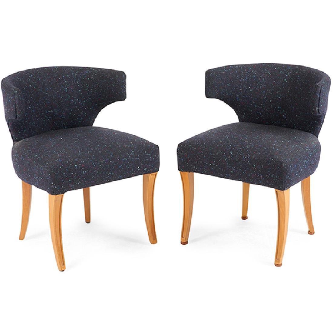 Edward Wormley (1907-1995) for Dunbar armchairs, pair