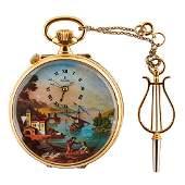 Reuge, Romance No. 188 erotic musical pocket watch,