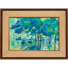 Francis Chapin, (American, 1899-1965), Studio Window,