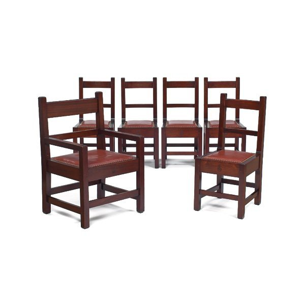 3: Roycroft chairs, #027 and #028, set of six