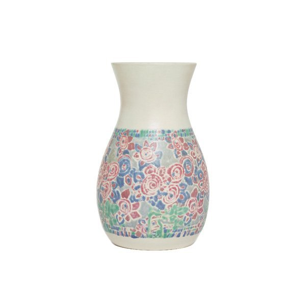 6: Overbeck vase, large waisted and flaring shape