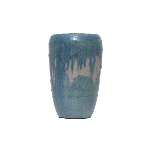 22: Newcomb College vase, painted landscape
