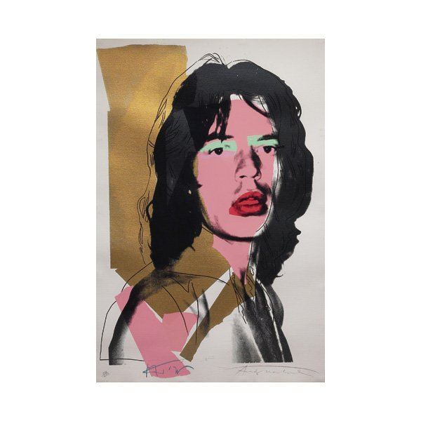"840: Andy Warhol,""Mick Jagger"", c. 1975; screenprint"