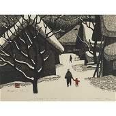 Kiyoshi Saito Japanese 19071997 Winter in Aizu
