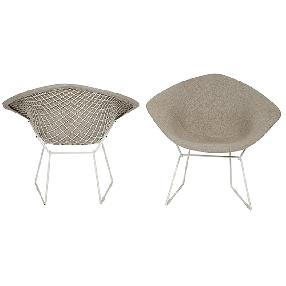 Harry Bertoia (1915-1970) for Knoll Diamond chairs pair