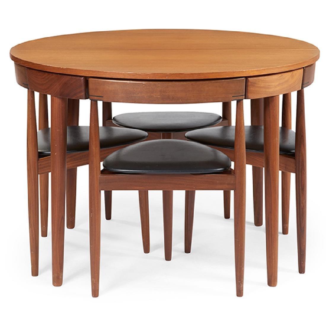 Hans Olsen (1919-1992) for Frem Rojle dining set table:
