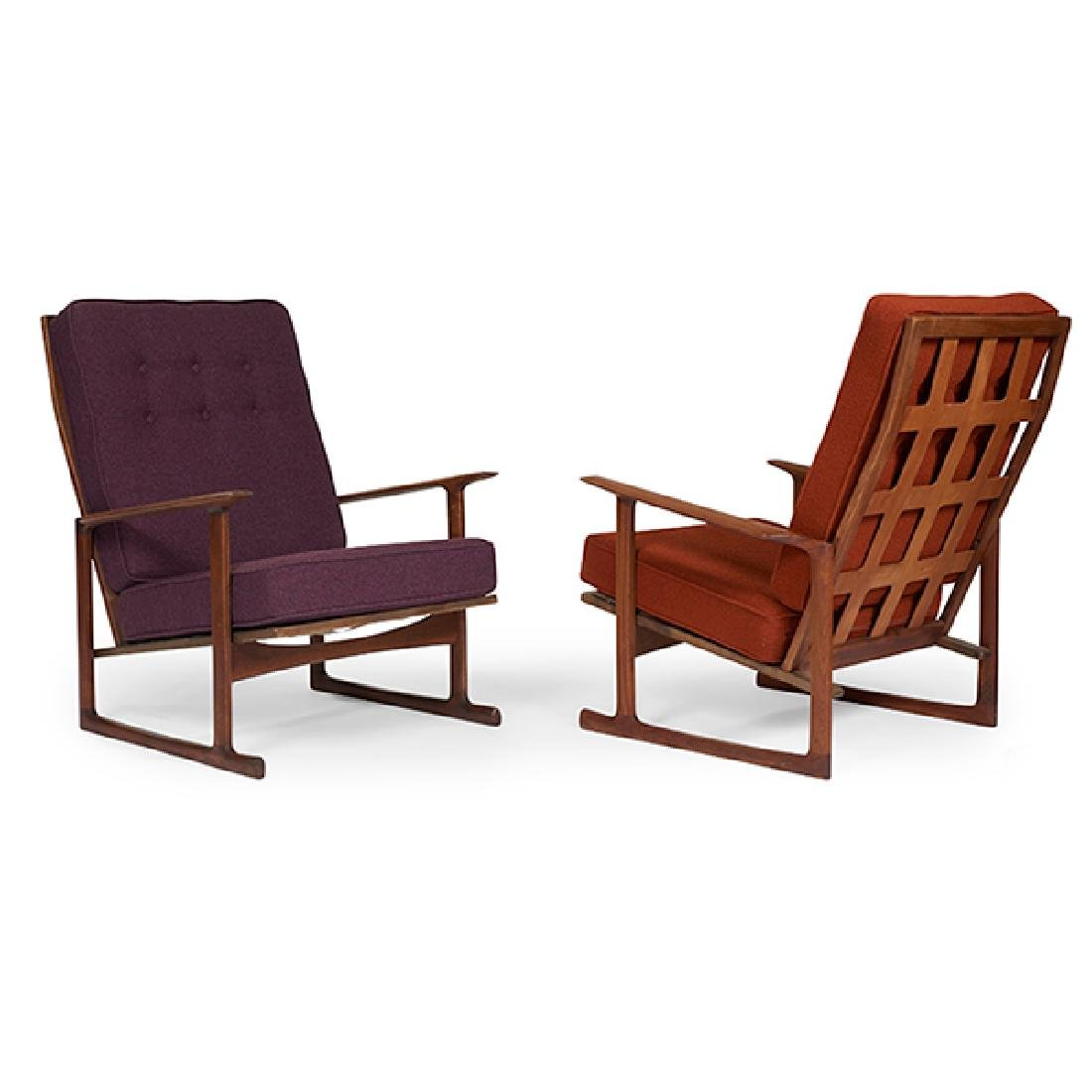 "Ib Kofod-Larsen for Selig lounge chairs, pair 29""w x"
