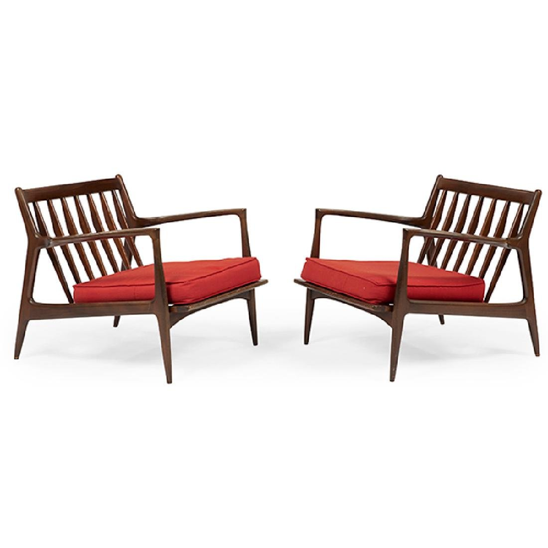 Ib Kofod-Larsen (1921-2003) for Selig lounge chairs,
