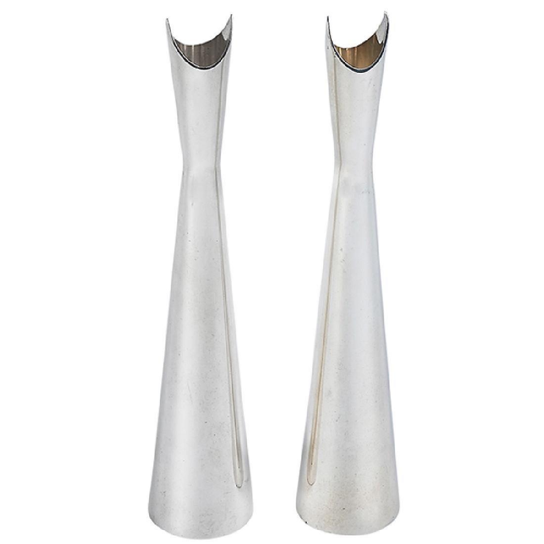 "Lino Sabattini (b. 1925) Cardinale vases, two 1.5""dia x"