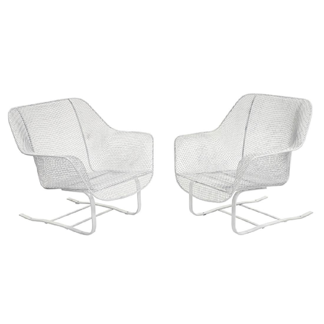 Russell Woodard Springer chairs, pair