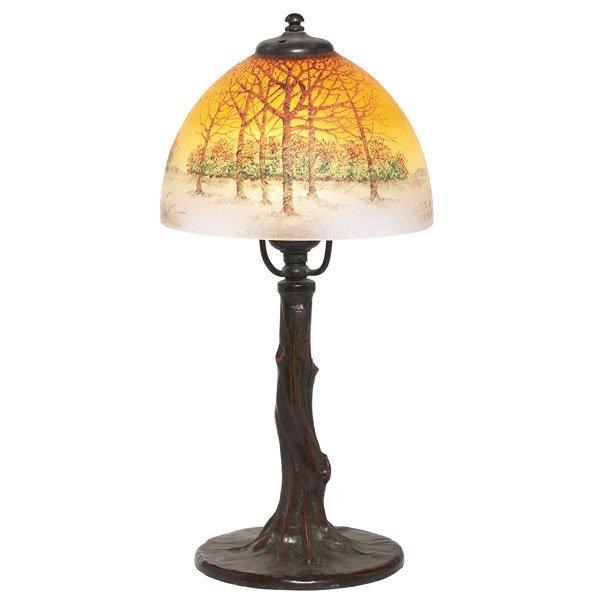 3: Handel boudoir lamp,  obverse painted landscape