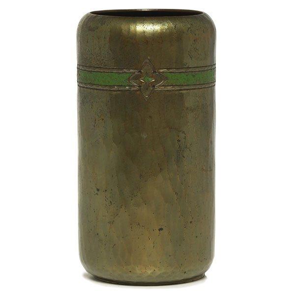 6: Roycroft vase, hammered copper