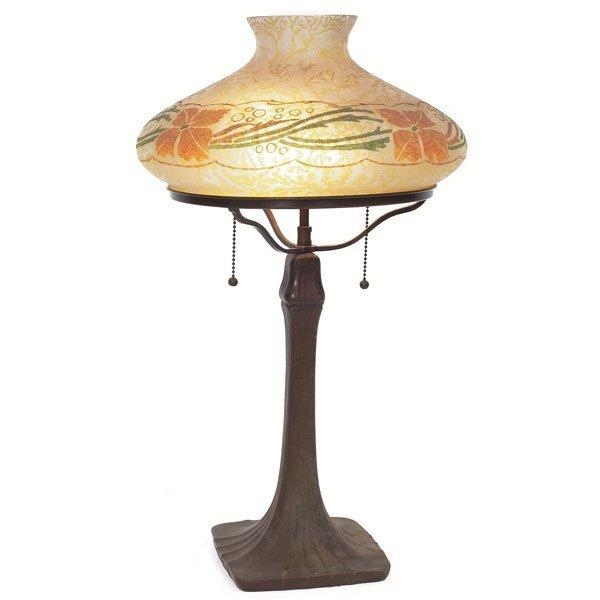 9: Handel Tam O'Shanter lamp, stylized floral