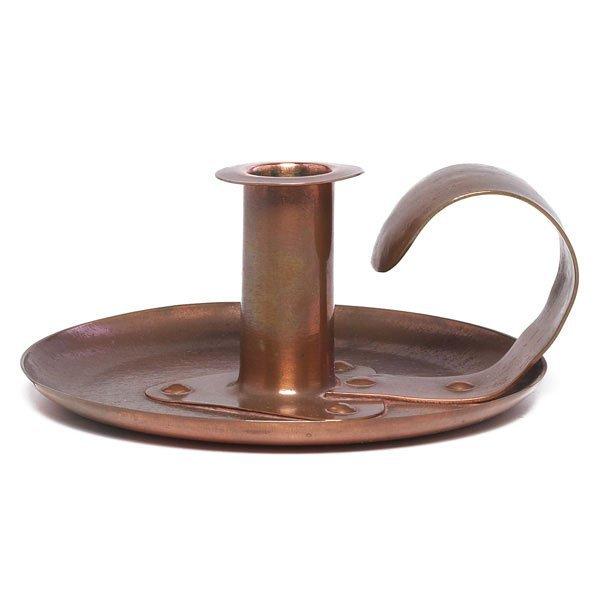 10: Jarvie chamberstick, Eta form, hammered copper