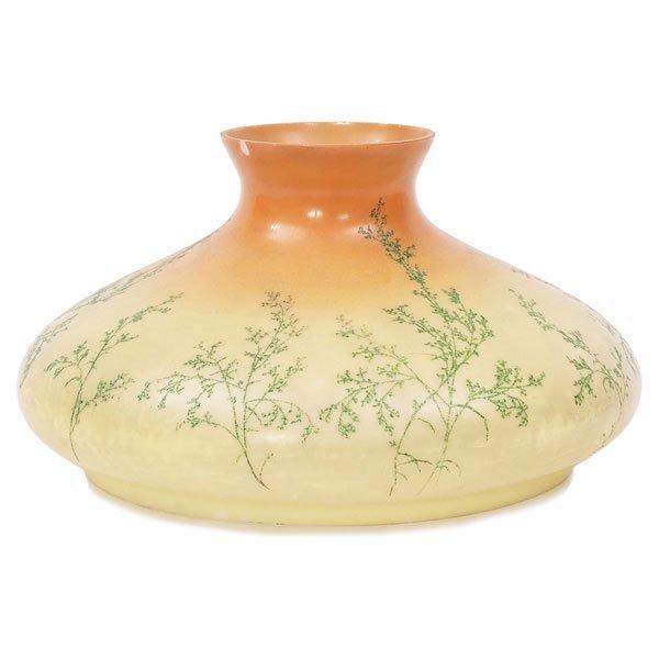 12: Handel shade, Tam O'Shanter form with floral motif