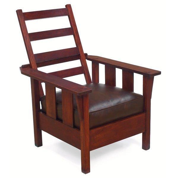 22: Arts & Crafts Morris chair, adjustable back