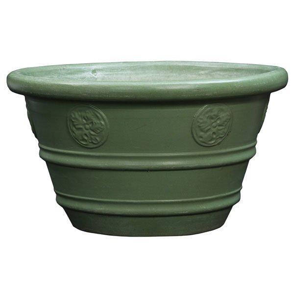 24: Teco planter, #506, matt green glaze