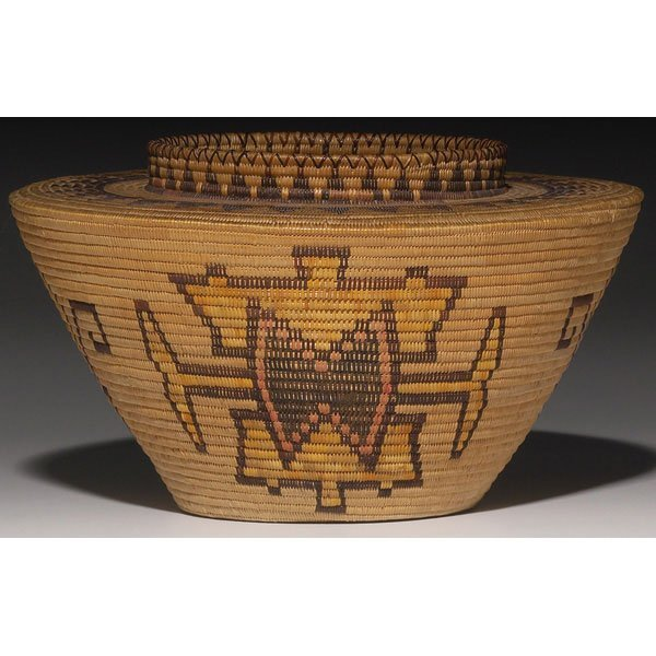 544: Panamint/Shoshoni basket, bottleneck shape